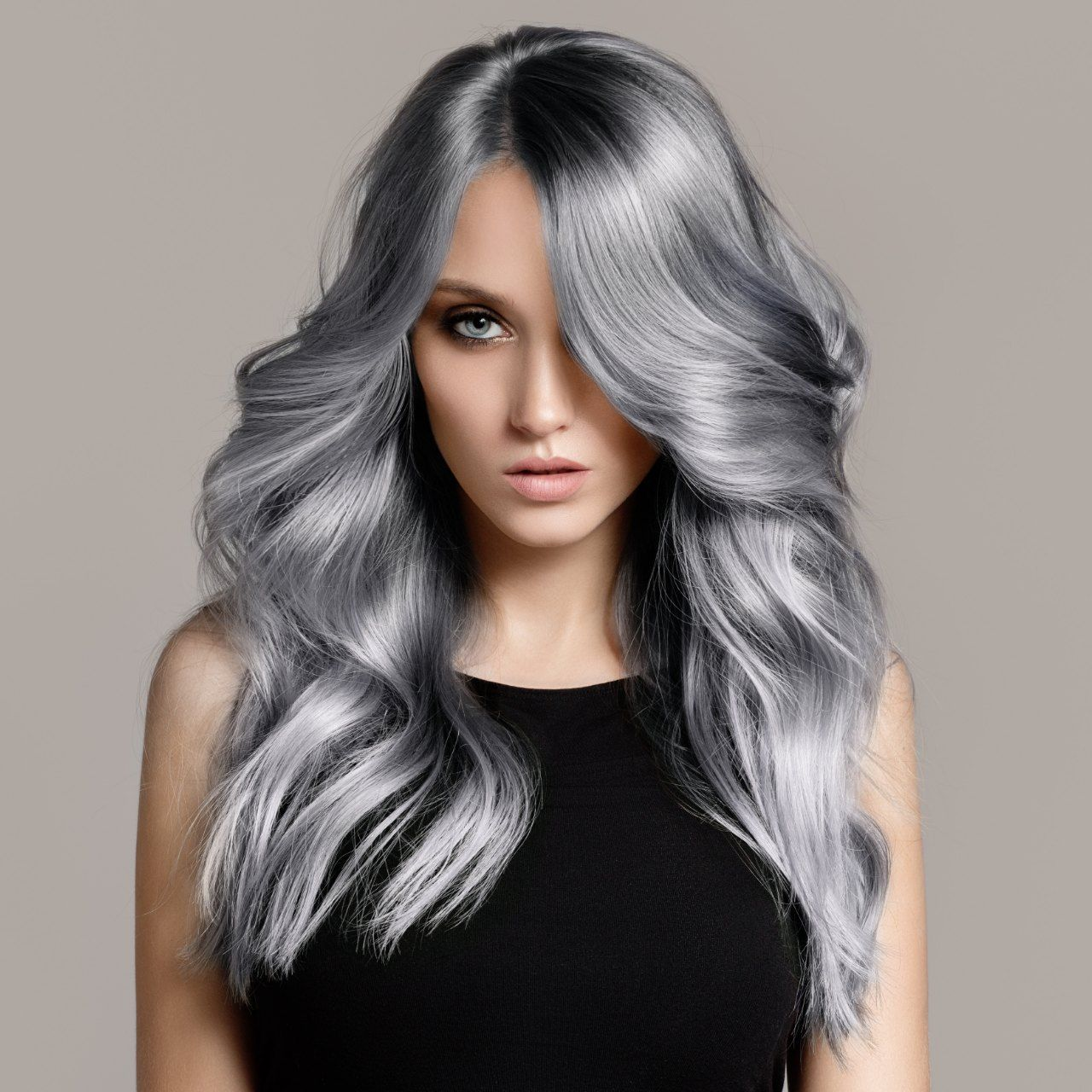 Silver hair image